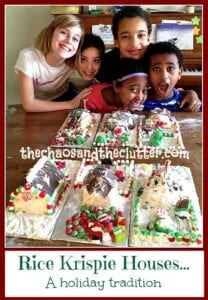 Rice Krispie Houses...a Holiday Tradition at The Chaos and The Clutter