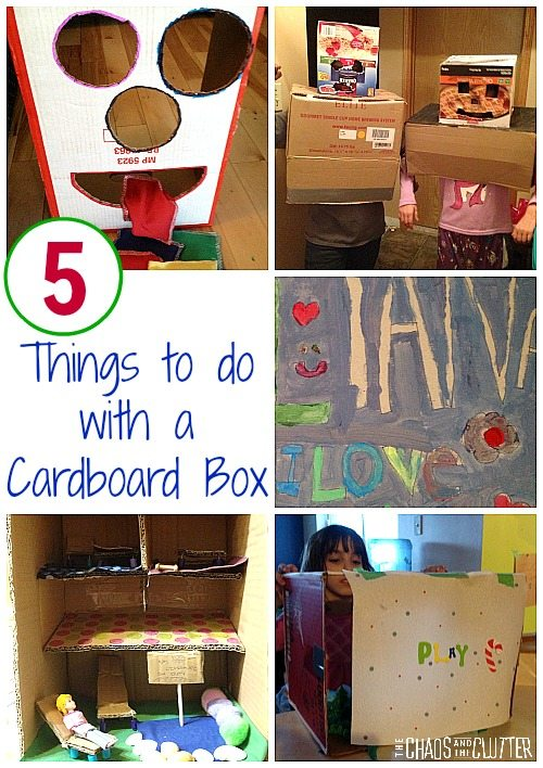 Kids complaining about being bored? Here are 5 things they can do with a cardboard box that don't require any planning.