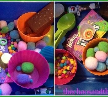 Candy Sensory Bin - The Chaos and The Clutter