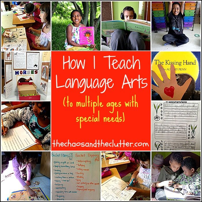 How I Teach Language Arts to multiple ages with special needs