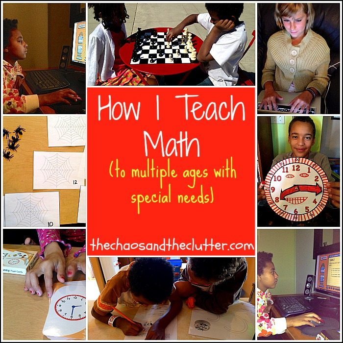How I Teach Math to multiple ages with special needs