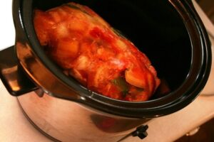 Pork & Peppers Crock Pot Meal