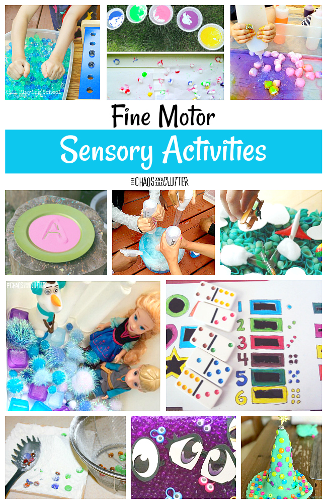 Fine Motor Sensory Activities for kids #finemotor #sensoryplay #preschool #kidsactivities