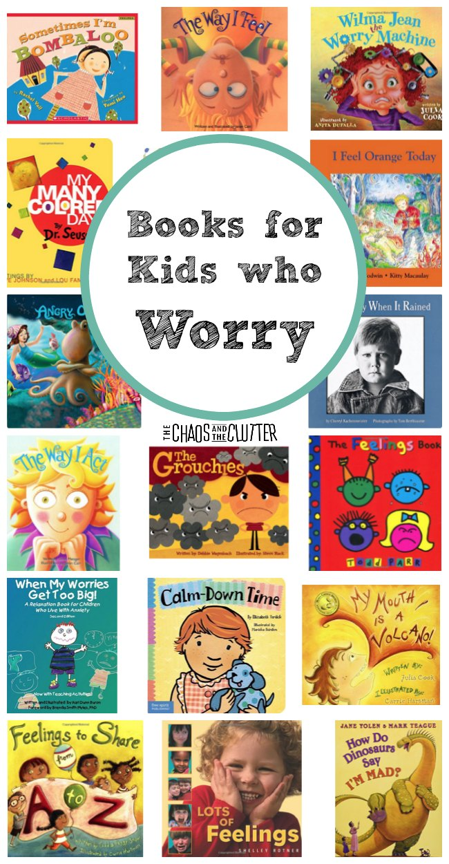 These great books for kids who worry can be used as resources for a child who struggles with stress and anxiety due to a variety of reasons. #anxiety #parenting
