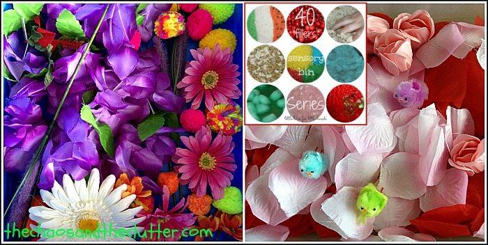 Flower and Flower Petal Sensory Bin Ideas