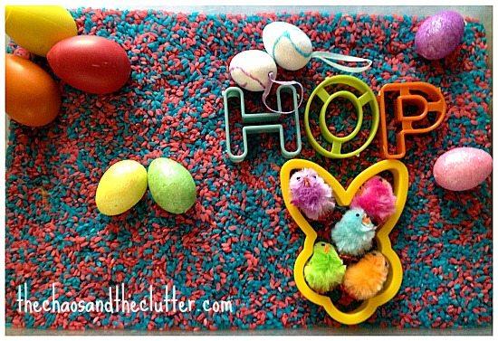 Hop Easter Sensory Bin