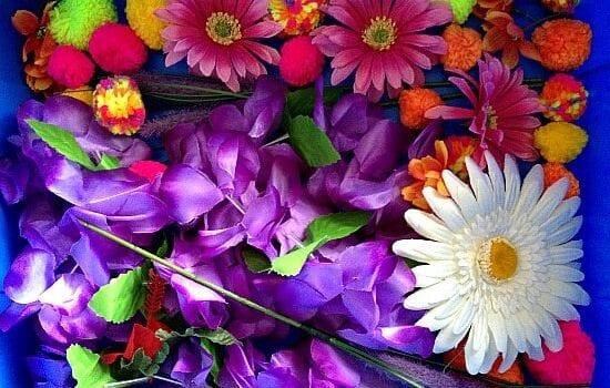 Spring Flowers Sensory Bin
