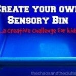 Create your own Sensory Bin...a creative challenge for kids