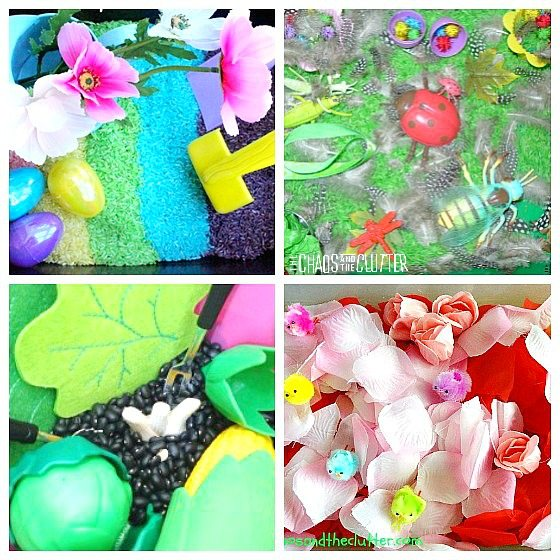 These Spring Sensory Bins will help bring Spring into your home even if you don't yet see it outside.