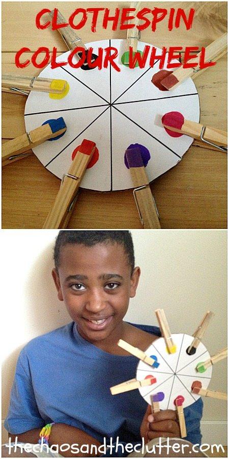 Clothespin Colour Wheel