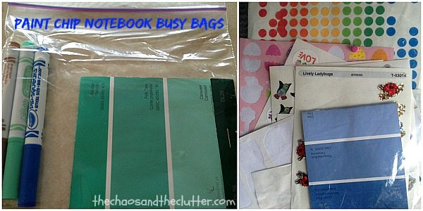 Paint Chip Notebook Busy Bags