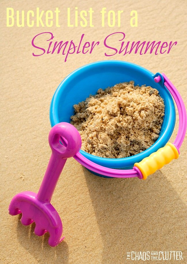 This summer bucket list is all about creating good old fashioned simple memories for your kids this season.