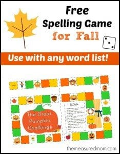 Free Fall Spelling Game