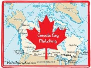 Canada Day Matching Worksheet