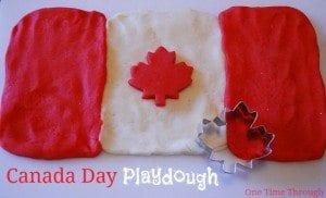 Canada Day Playdough