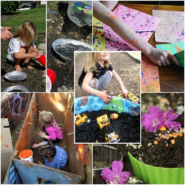 Messy Outdoor Sensory Play