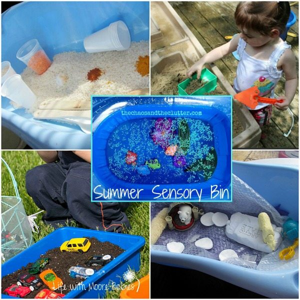 Outdoor Sensory Bins
