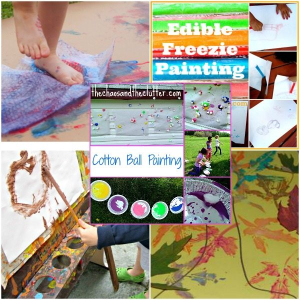 Outdoor Sensory Painting