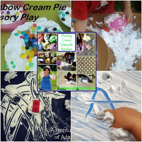 Outdoor Shaving Cream Sensory Play