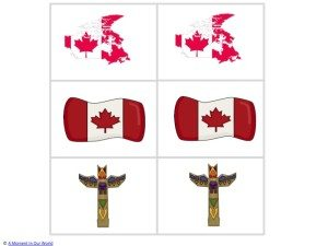 canada matching cards