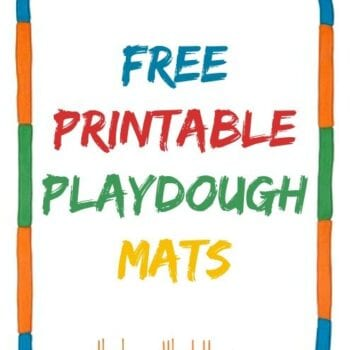 Free Printable Playdough Mats