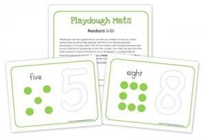 Number Playdough Mats printable