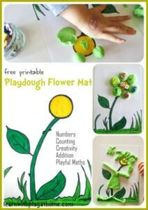 Playdough Flower Mat. Free Printable. Playful Maths