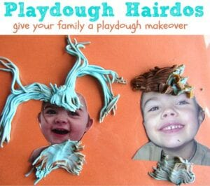 playdough family hairdo