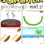 summer playdough mats printable