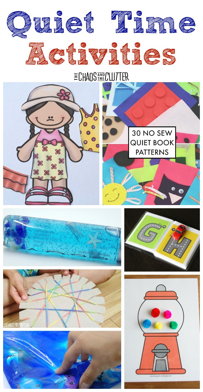 Quiet time activities for little ones as well as for older kids