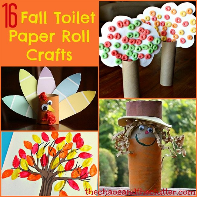 16 fall toilet paper roll crafts for Paper roll projects