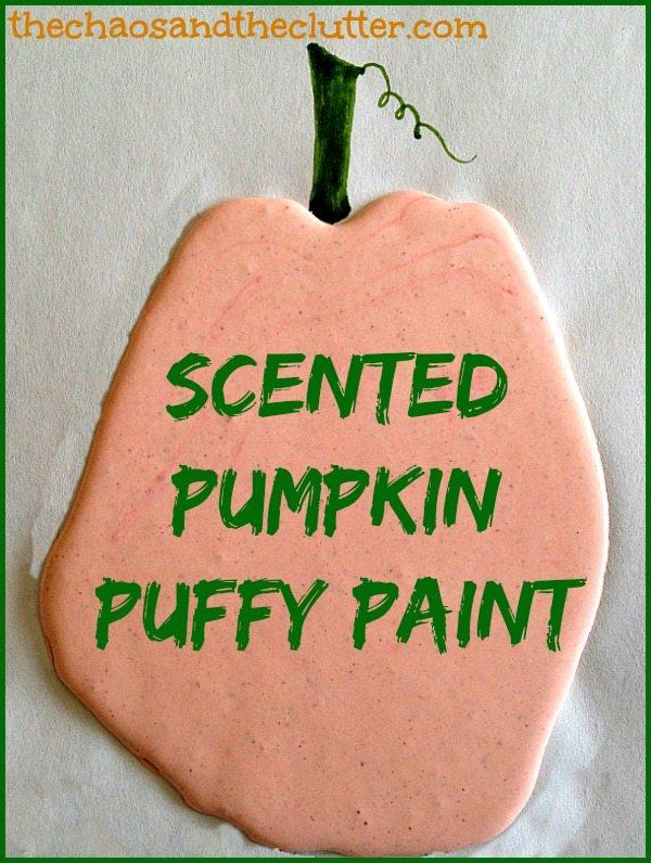 Scented Sensory Pumpkin Puffy Paint