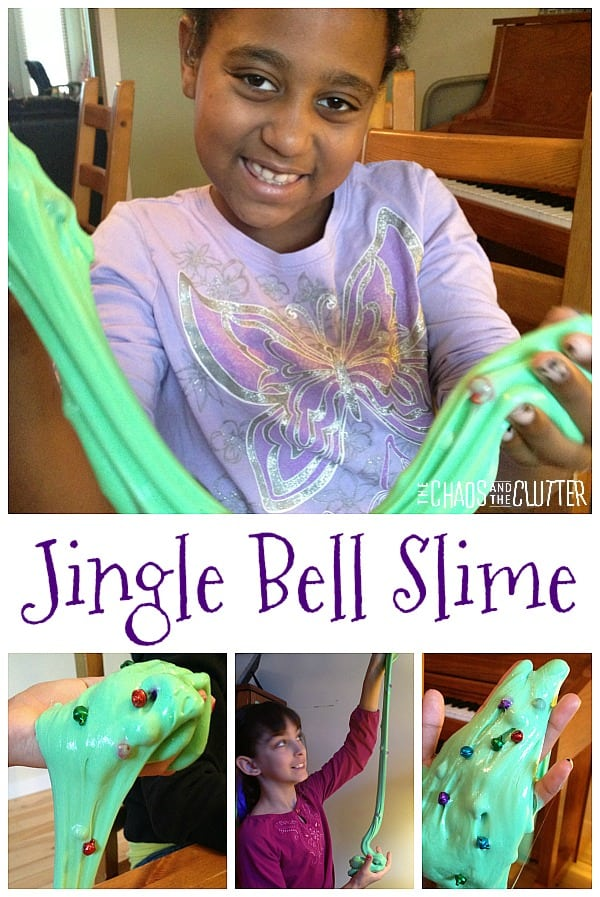 Jingle Bell Holiday Slime #slime #christmasslime #holidayslime #sensoryplay