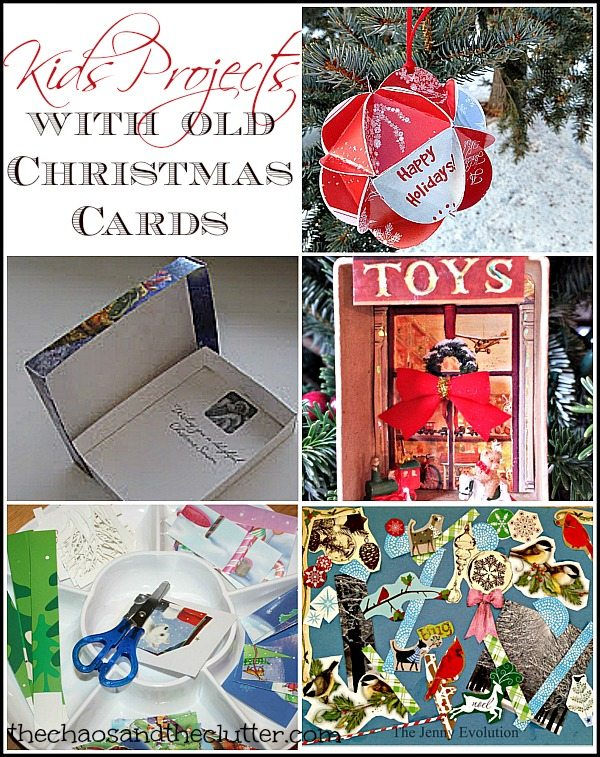 Projects Kids can Make with Old Christmas Cards