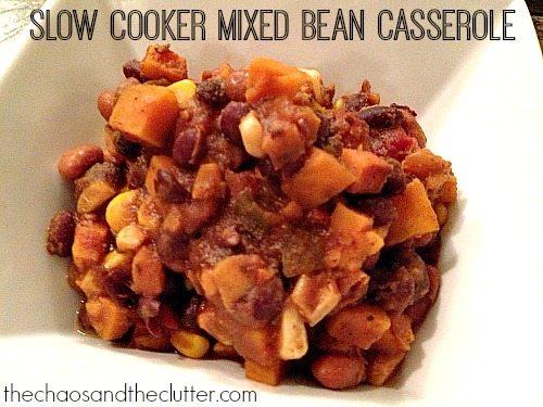 Slow Cooker Mixed Bean Casserole