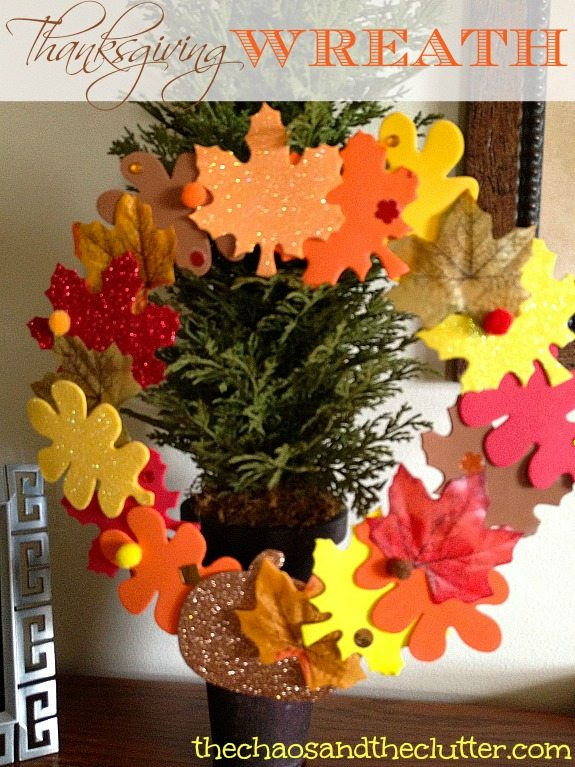 Thanksgiving Wreath for Kids