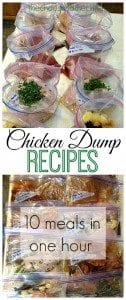 Chicken Dump Recipes - 10 meals in one hour