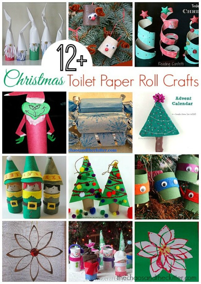 Christmas toilet paper roll crafts for Paper roll projects