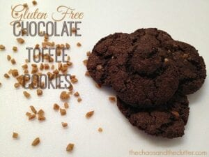 Gluten Free Chocolate Toffee Cookies