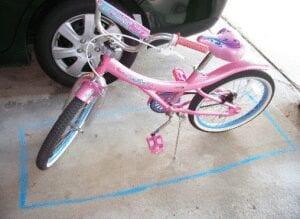 Chalk Bike Parking Spot
