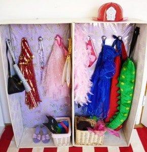 DIY Children's Dress Up Wardrobe