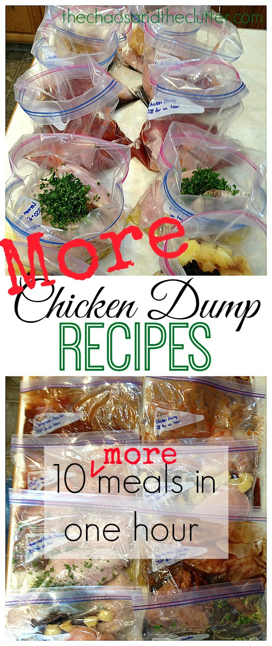 More Chicken Dump Recipes - 10 more meals in an hour!