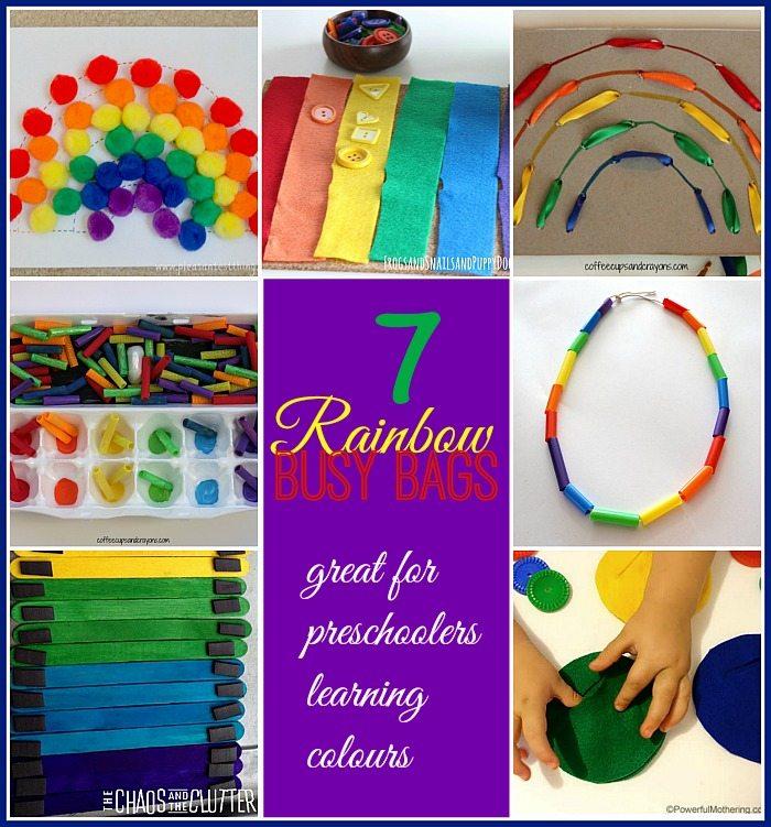 7 Rainbow Busy Bags