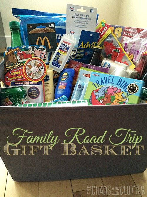 Family Road Trip Gift Basket