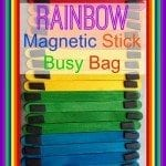 Rainbow Magnetic Stick Busy Bag