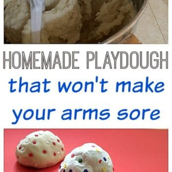 Homemade Playdough that won't make your arms sore