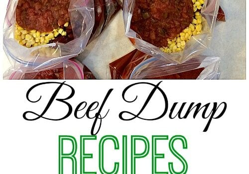 Beef Dump Recipes…assemble 10 meals for your family in just one hour!