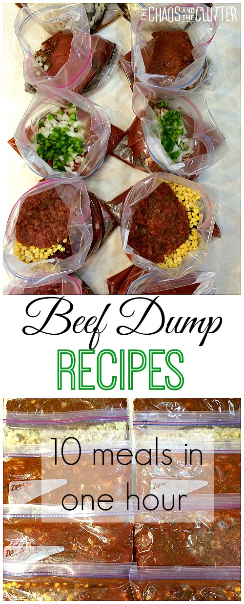Beef Dump Recipes. Assemble 10 meals in one hour that can go from the freezer to the crock pot and can be made gluten free.