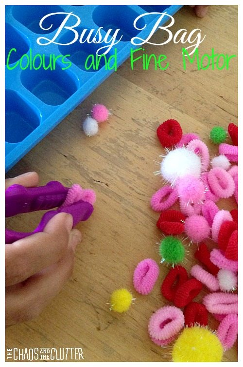 Colours and Fine Motor Busy Bag