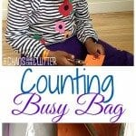 Counting Busy Bag (good for fine motor practise too)
